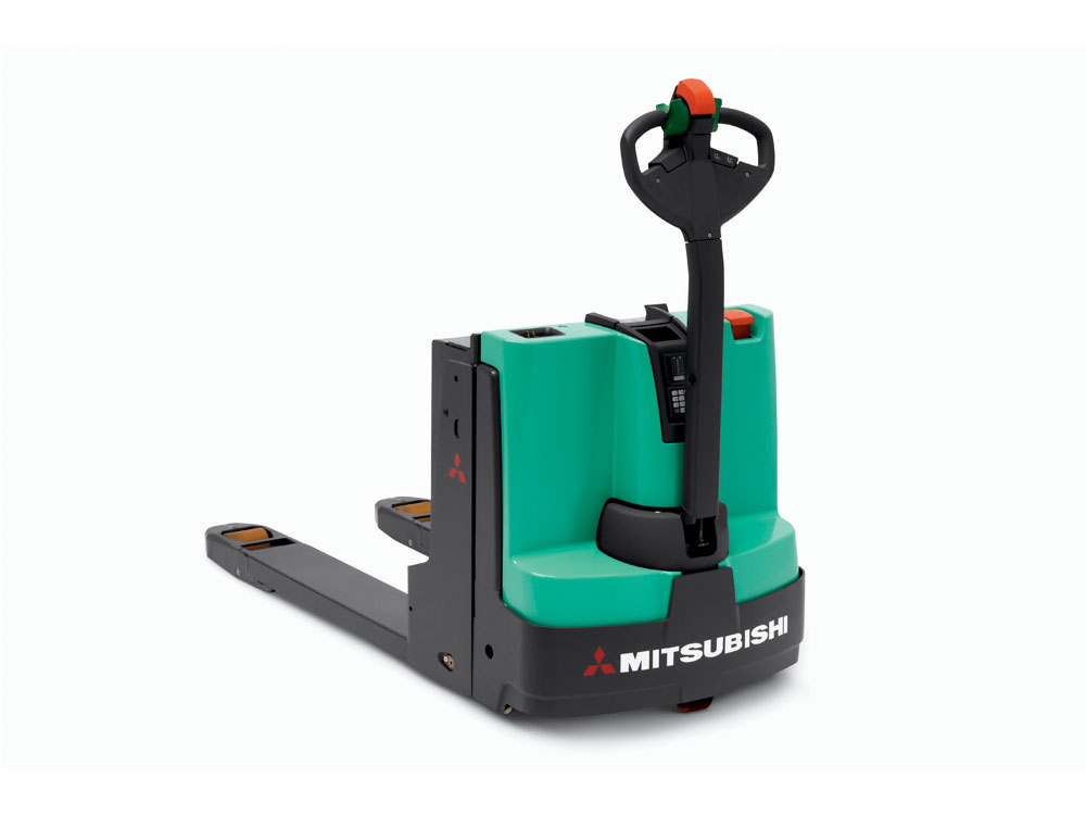 Mitsubishi pw23 pw30 electric pallet jack wisconsin for Motorized pallet jack rental