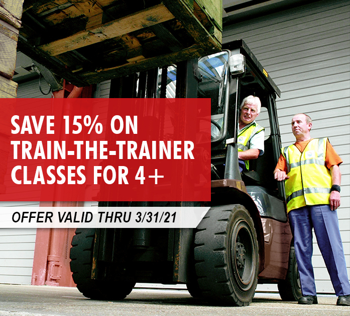 Save 15% on Train-the-Trainer classes for 4 or more at your location. Valid thru 3/31/3021.